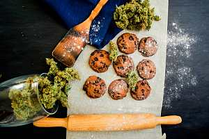 Edibles being made on cutting board