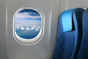window of a airplane