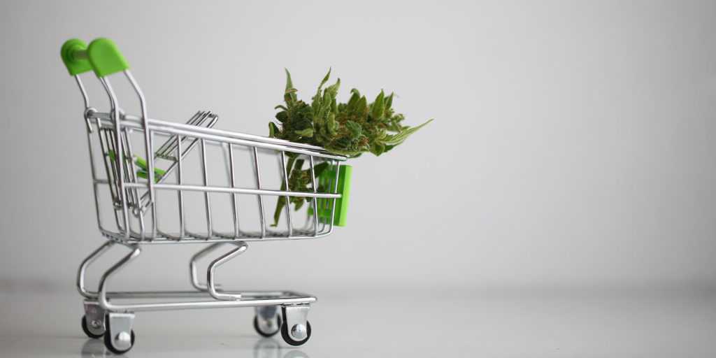 cart of someone old enough to buy weed