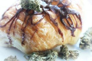 donut that are Cannabis Edibles with chocolate